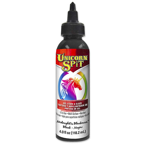 Unicorn SPiT 5770010 Gel Stain and Glaze, Midnight's Blackness 4.0 FL OZ Bottle