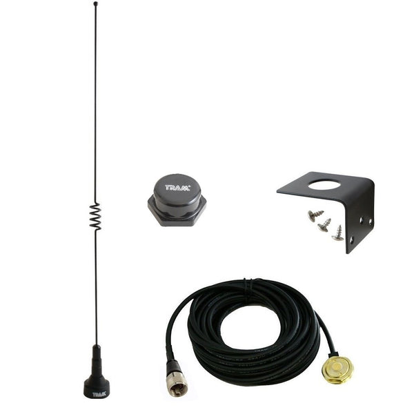 Amateur Dual-Band Marine NMO 18.5 inch Antenna VHF 140-170 & UHF 430-470 MHz for Mobile Radios 2 Meter 70 Centimeters w/PL-259 UHF Mount 1181 1250