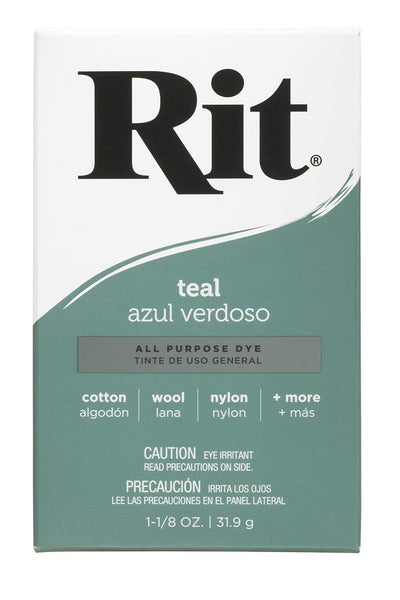 Rit Purpose Powder Dye, Teal, 1-1/8 oz