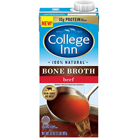 College Inn 100% Natural Beef Bone Broth in Aseptic Carton, Pack of 12