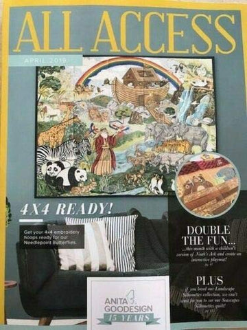 Anita Goodesign All Access VIP Club April 2019 Embroidery Design CD & Book