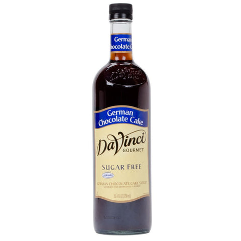 DaVinci SUGAR FREE German Chocolate Cake Syrup w/ Splenda 750 mL