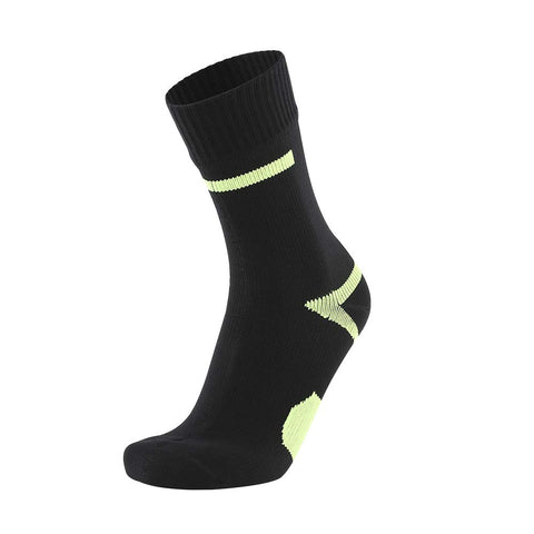 BRODDLE Unisex Mid-Calf Waterproof Hiking Camping Socks Black Medium