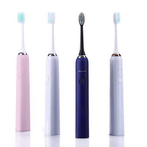 Keshanmei Electric Toothbrush Clean Rechargeable Sonic Toothbrush with Smart Timer 5 Optional Modes Waterproof Long Standby For 120 Days (Blue) Blue