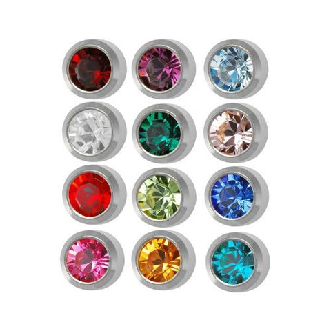 Surgical Mini 3mm Ear piercing Earrings studs 12 pair Mixed Colors White Metal