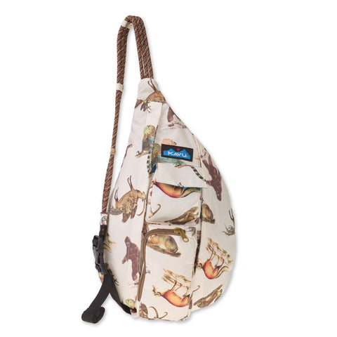 KAVU Mini Rope Bag Crossbody Polyester Sling Backpack One Size Day Menagerie
