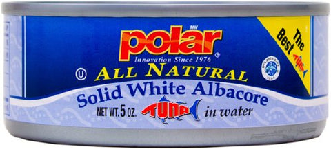 MW Polar Tuna, All Natural Solid White Albacore in Water, 5-Ounce (Pack of 24) 24 Pack