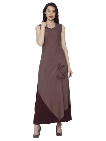 Raisin Indian Kurtis for Women Party Wear Tunics Women Kurta Sets 44 Wine-