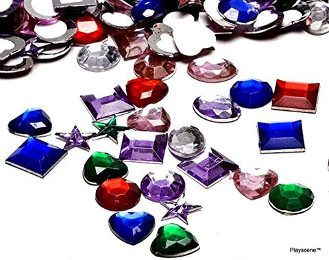 Playscene Craft Jewels with Adhesive Back (1/2  Inch - 500 Pack) 1/2  Inch - 500 Pack