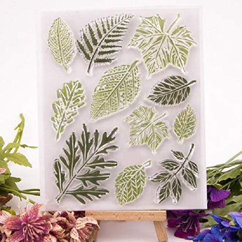 Welcome to Joyful Home 1pc Leaves Rubber Clear Stamp for Card Making Decoration and Scrapbooking