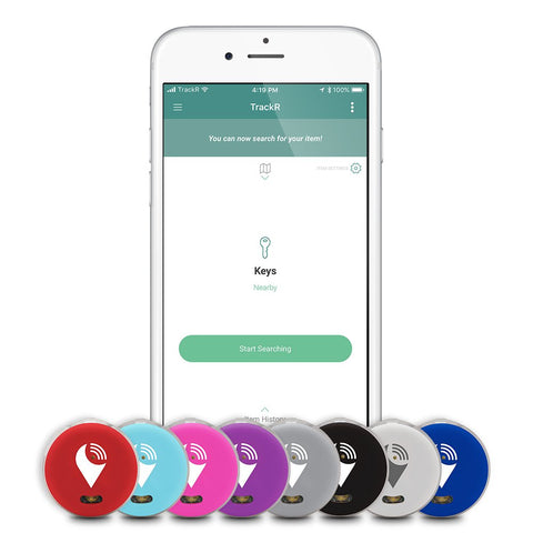 TrackR pixel - Bluetooth Tracking Device. Item Tracker. Phone Finder. iOS/Android Compatible - Multicolor (8 Pack) 08 Pack