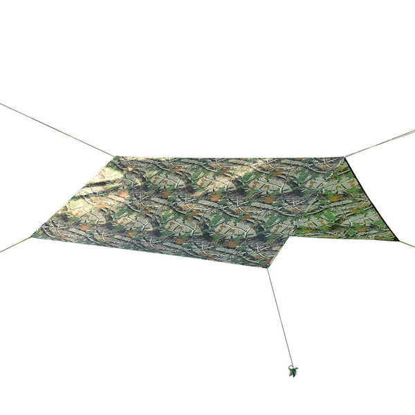 HYOUT 10x10 Waterproof Hammock Rain Fly,Lightweight Camo Tent Tarp Shelter for Picnic Camping Hiking Fishing with Drawstring Carrying Bag Bionic Maple 10x10ft