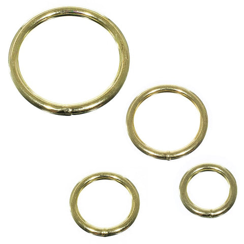 Paracord Planet 50 Pack Welded Brass Assorted O-Ring Pack of All Sizes – DIY Décor, Jewelry, Bags