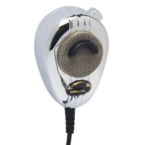 RoadKing RK564PCH Chrome 4-Pin Dynamic Noise Canceling CB Microphone with Flex Cord