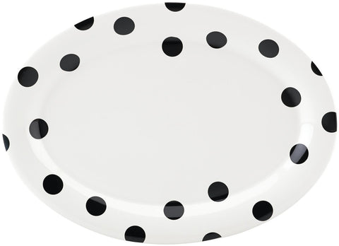 kate spade new york All in Good Taste Deco Dot Dinnerware Platter - White - 14""