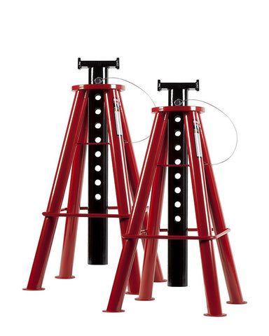Sunex 1410 10-Ton, High Height, Pin Type, Jack Stands, Pair 10 Ton High