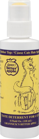 Grannick's Bitter Apple Spray with Dabber Top for Cats 4oz 4 Ounce