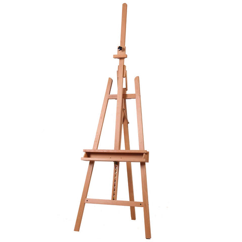 MEEDEN Large Painters Easel Adjustable Beech Wood Artist Easel, Studio Easel for Adults with Brush Holder, Holds Canvas up to 48