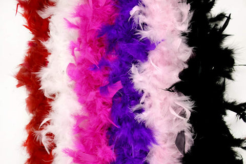 Feather Boa Party Supplies 6 Pack- Vibrant Colors 40 Gram Party Favors by Monford