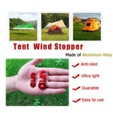 Yillsen Ultralight Aluminum Alloy Guyline Cord Adjuster Tent Tensioners Rope Adjuster for Tent Camping Hiking Backpacking Outdoor Activity Pack of 10 Red