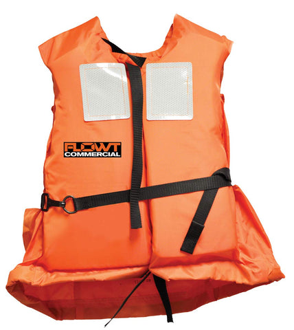 FLOWT Type I Commercial Off-Shore Life Vest – USCG Approved Universal Adult Orange