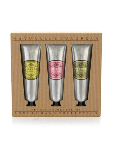 Naturally European - Hand Cream Gift Set (Ginger & Lime, Verbena & Rose Petal)