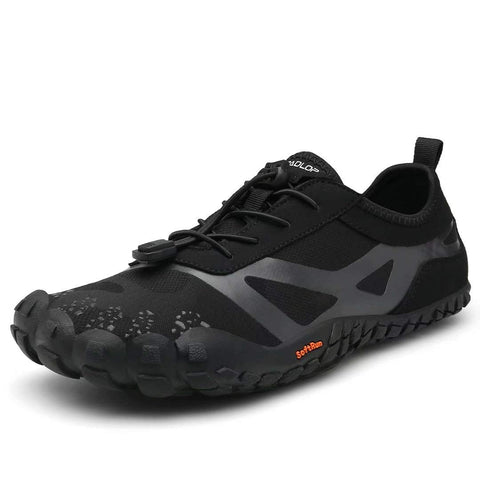 Tanloop Trail Running Shoes Lightweight Outdoor Hiking Shoes Cross-Trainer Barefoot Shoes for Men Women 10.5 W3-black