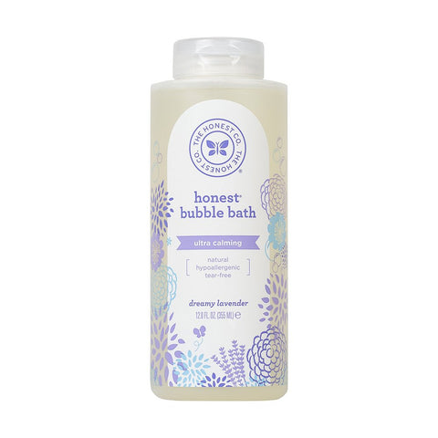 Honest Calming Lavender Hypoallergenic Bubble Bath with Naturally Derived Botanicals, Dreamy Lavender 12 Fl. Oz (Pack of 1)
