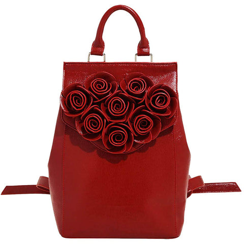Danielle Nicole Disney Beauty And The Beast Rose Backpack, Red