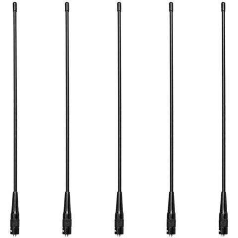 Retevis RHD-771 Two Way Radio Antenna Dual Band 15.4  SMA-F High Gain Antenna for Kenwood BaofengUV-5R 888s Retevis H-777 RT-5R Walkie Talkies(5 Pack)