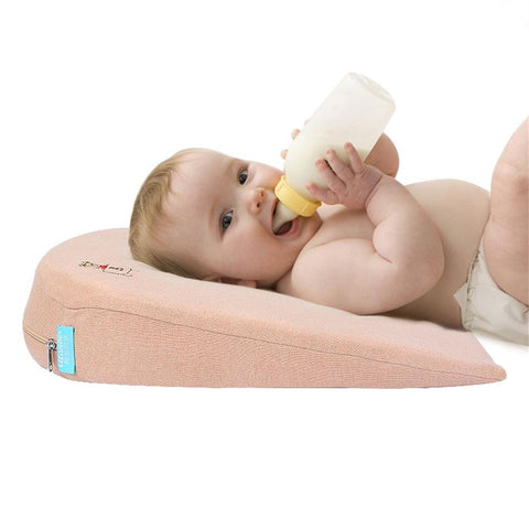 Universal Crib Wedge Pillow for Baby Crib Mattress Newborn Reflux and Newborn Nasal Congestion Reducer 100    Cotton Removable Cover | 15-Degree Incline for Better Night's Sleep