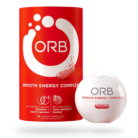 ORB Smooth Energy Complex – Energy Formula + MCT Oil for Easier Absorption | Provides Sustained Smooth Energy, Supports an Alert Mental State, Time-Released... 30 Count