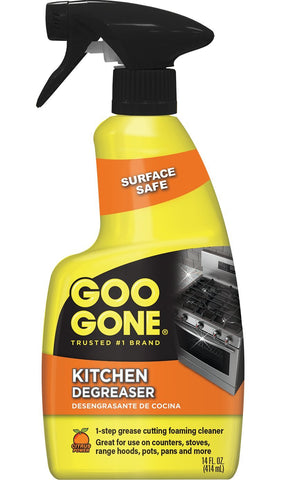 Goo Gone Kitchen Degreaser - Removes Kitchen Grease, Grime and Baked-on Food - 14 Fl. Oz. - 2047 14 fl oz