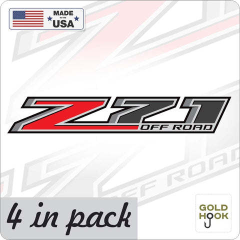 Z71 Off Road Decal Replacement Sticker (4 pk.) | Bedside Off Road Emblem for 4x4 Truck GMC Sierra Chevy Silverado Suburban