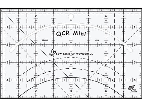 Sew Kind of Wonderful QCR Mini Ruler, Original Version