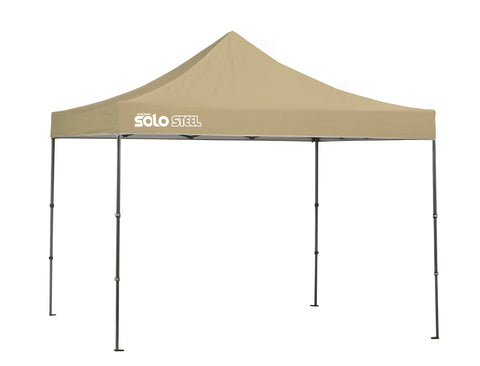 Quik Shade Solo Steel 100 10 x 10 ft. Straight Leg Canopy, Khaki