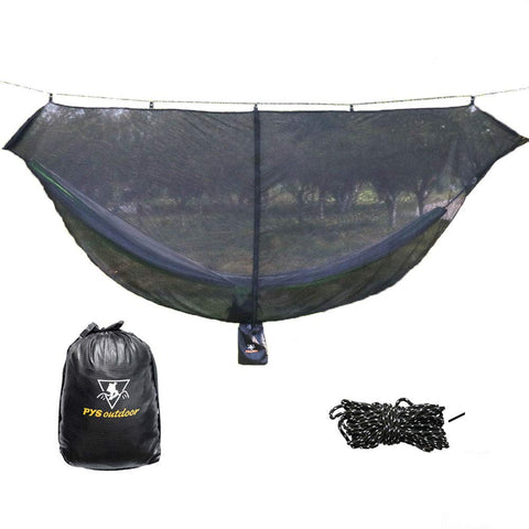 pys Hammock Bug Net - 12' Hammock Mosquito Net Fits All Camping Hammocks. Compact, Lightweight. Fast Easy Setup.Security from Bugs and Mosquitoes. Essential Camping and Survival Gear.