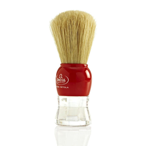 Omega 10072 Pure Bristle Shaving Brush RED
