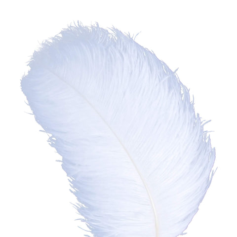 AWAYTR Natural 18-20 inch(45-50cm) Ostrich Feathers Plume for Wedding Centerpieces Home Decoration White 50 Pcs 50pcs