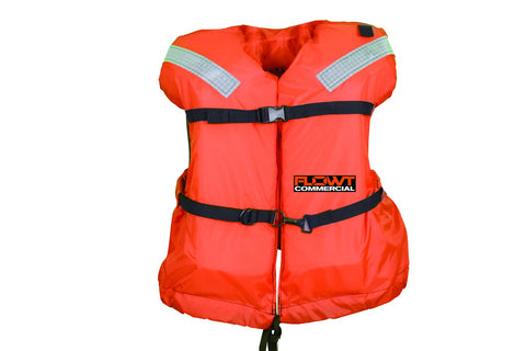 FLOWT Commercial Offshore LIfe Jacket - USCG Approved Type I PFD Youth <90-Pounds. Orange