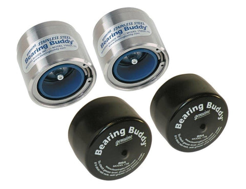 Bearing Buddy Stainless Steel Bearing Protectors (1.980  Diameter) with Auto Check With Bras - Pair