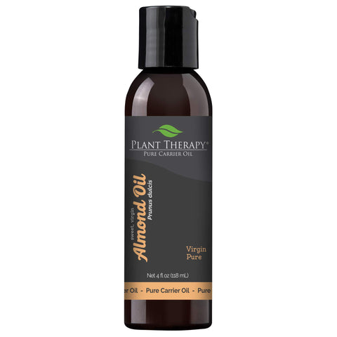 Plant Therapy Sweet Almond Oil - For Skin, Hair, Body, Face & Baby - Natural Moisturizer, Massage & Aromatherapy Carrier Oil 100    Pure, Cold Pressed California Almonds, Made In USA, 4 oz