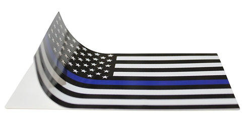 Thin Blue Line (2 Pack) Reflective ! Blue Lives Flag Decals Sticker 3x5 Blue Lives Matter Flag