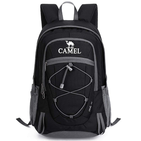 Camel 30L Lightweight Travel Backpack Outdoor Mountaineering Hiking Daypack with Durable & Waterproof Black