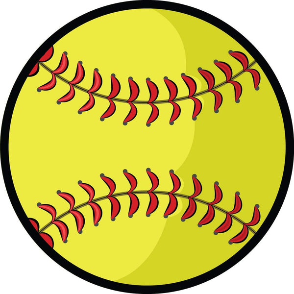 Sports Athlete Softball Car Magnet, 5 3/4 Inch