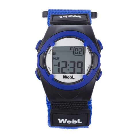 WobL - Blue 8 Alarm Vibrating Reminder Watch, Kids Watch, ADHD, Potty Reminder