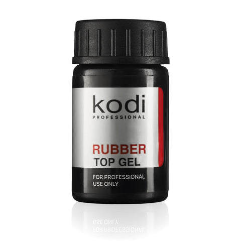 Professional Rubber Top Gel By Kodi | Soak Off, Polish Fingernails Coat Kit | For Long Lasting Nails Layer | Easy To Use, Non-Toxic & Scentless | Cure Under LED Or UV Lamp | 14ml 0.49 oz