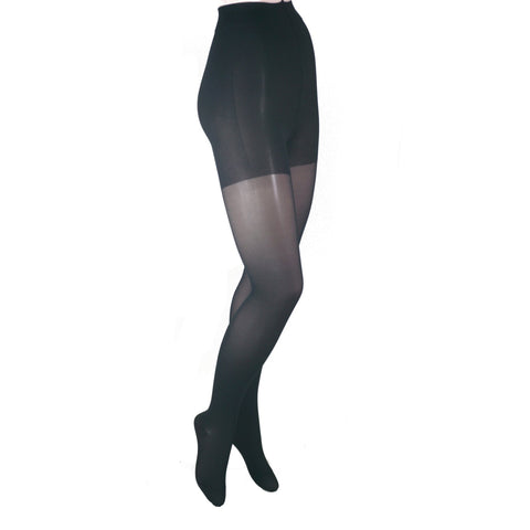 GABRIALLA Graduated Compression Sheer Pantyhose (23-30 mmHg) H-330 3 Pack Black Petite
