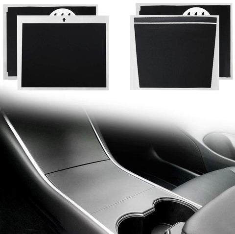 Asani Tesla Model 3 Center Console Wrap Kit (Matte Black) | Complete Protective Vinyl Sticker Set with Extra Cup Holder Wrap | Prevent Scratches, Fingerprints and Dust | Durable Tesla Accessories
