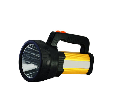 LED Rechargeable Spotlight, Super Bright 10000 Lumes Flashlights Outdoor Searchlight with 6 Light Model&8000Mah Power Bank Black